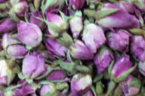 table decoration rose buds