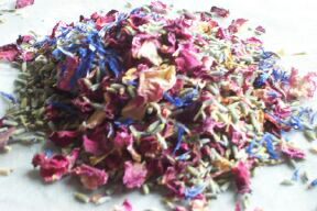 dried flower petals