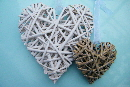 wedding wreath rattan heart